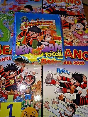 Beano Annuals X 4 And Box Of Snappers  • 29.99£