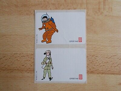 2 Stickers Tintin - Haddock And Sunflower / Lu 1994 • 2.88£