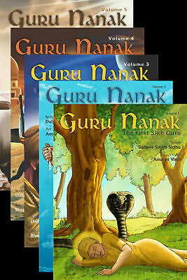 Guru Nanak Dev Ji The First Sikh Guru Sikh Comic Book Sikhism Volume 1 To 5 • 26.99£