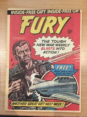 RARE Fury Comic Issue 1 March 16th 1977 'Very Fine' Condition Dave Gibbons Cover • 30£