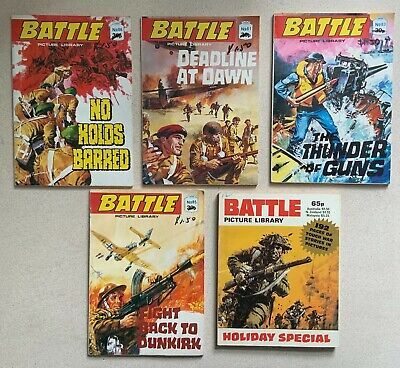 Battle Picture Library X 5 Comic Books, Graphic Novels • 5£