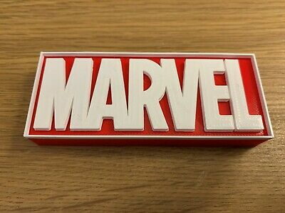MARVEL 3D Printed Free Standing Plaque Sign Logo Marvel • 7.25£