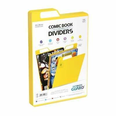 Ultimate Guard Premium Comic Book Dividers | Yellow | Pack Of 25 Storage Filing • 12.95£