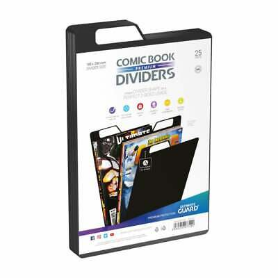 Ultimate Guard Premium Comic Book Dividers | Black | Pack Of 25 Storage Filing • 12.95£