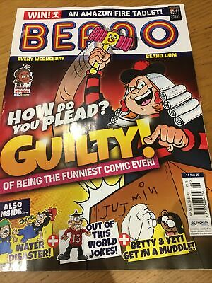 BEANO COMIC MAGAZINE : 14th November 2020 : New • 2.99£