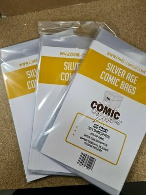300 New Silver Age Size Comic Concept Bags • 17.99£