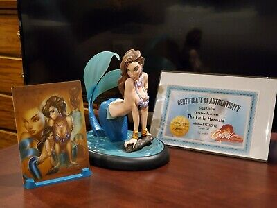 NEW J Scott Campbell Signed - The Little Mermaid Statue - Exclusive Sideshow FTF • 674.44£