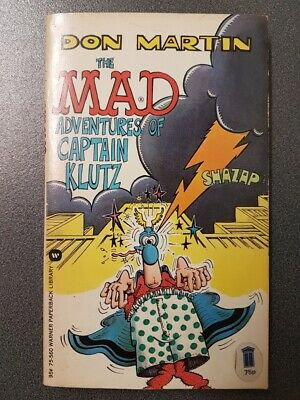 RARE LIKE NEW - THE MAD ADVENTURES OF CAPTAIN KLUTZ 1975 Warner Comic Book • 63.99£