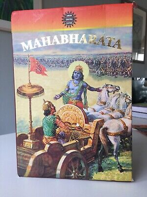 Mahabharata Epic,3 Hardback Books, Child Friendly Comic Form - Amar Chitra Katha • 60£