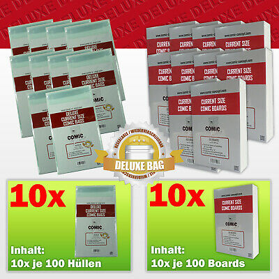Comic Concept Sparpaket 1000x Deluxe Current Size Bags (selbstkl.) + Boards • 155£