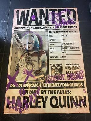 Harley Quinn Wanted Poster New Unused • 10.95£