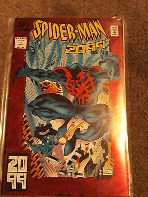 Spiderman 2099 Issue 1 (cardbacked) Marvel Comics Extremely Rare First Issue • 20.99£