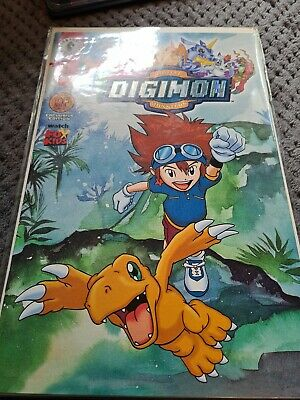 Digimon Comic #1 Exclusive Foil Cover Limited. • 15£