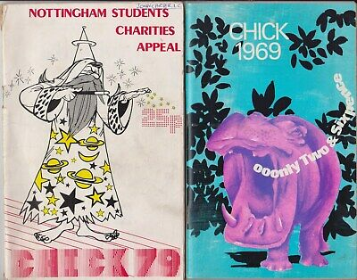 Nottingham Rag Week 'Chick' Magazines For 1969 And 1979 • 3.95£