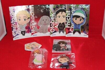 Yuri On Ice Merch Set, Pins Acryl Stamps , Cards • 4.34£