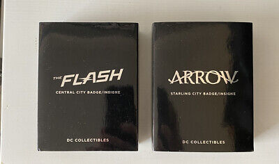 DC Flash & Arrow Replica Police Badges • 49.99£