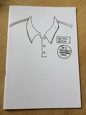 Retail Bitch #3 Assistant Manager Issue Zine Perzine A5 Illustrated Booklet • 2.50£
