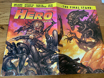 Hero Illustrated Issue 2 August 1993 Dave Dorman Fold Out Aliens Cover • 7.99£
