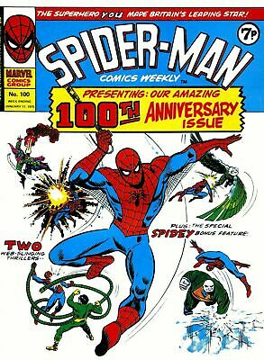 SPIDERMAN COMICS WEEKLY - #1-215 ON PC DVD Over 2 DISCS • 3.50£