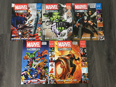 5 Marvel Comics Fact Files By Eaglemoss Collections • 0.99£