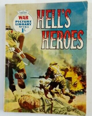 No 163 Hells Heroes War Picture Library Comic By Fleetway • 3£