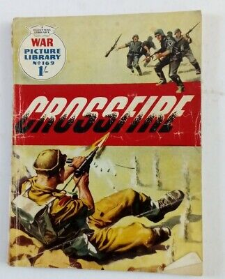 No 169 Crossfire War Picture Library Comic By Fleetway • 3£