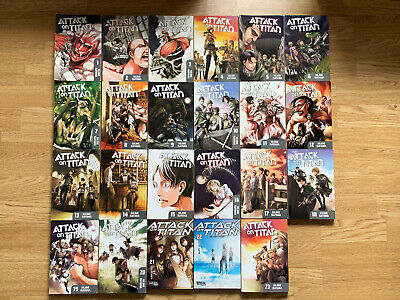 Attack On Titan By Hajime Isayama, Manga / Anime Book Bundle Numbers 1-23 • 99.99£