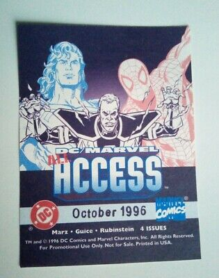 Marvel Dc Comics All Access Orig. 1996 Promo Sticker Found Ltd Supply Free P&p! • 1.99£