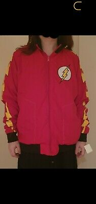The Flash Zoom DC Justice League Comic Reversible Track Jacket Red Yellow S/M • 7£