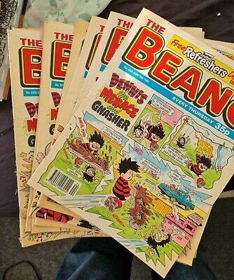 Beano Comics Job Lot / Bundle Vintage 100 ONE HUNDRED Issues From 1992-1994 • 19.99£