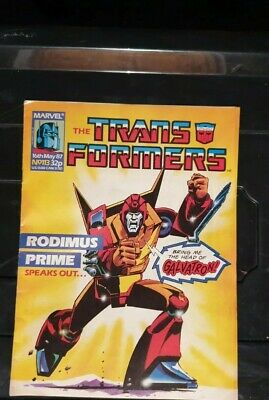 Transformers Comic #113 16th May 1987 British Weekly 1st Deaths Head • 139.95£