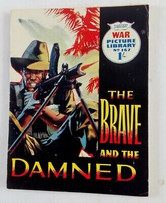 No 167 The Brave And The Damned War Picture Library Comic By Fleetway • 3£