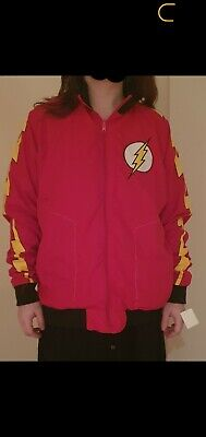The Flash Zoom DC Justice League Comic Reversible Track Jacket Red Yellow S/M • 5.50£