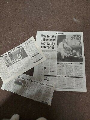 Morgan Cars Newspaper Cuttings Free Postage Collectable  • 3.99£