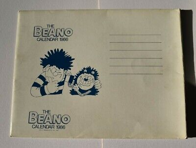Beano Calendar From 1986 - In Great Condition With Original Envelope • 4£