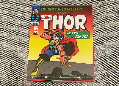 Thor Retro Pin Badge Set. Marvel Comics. 9 Enamel Pins. Marvel Playing Cards • 8£