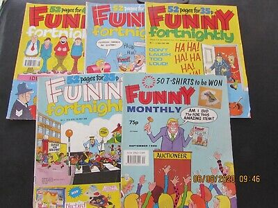 5  Funny   Monthly   Comics      From 1989/90  Very Good For Age • 2£
