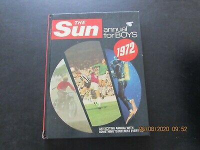 The   Sun  Annual  For  Boys  1972  Very   Good For Age • 2£