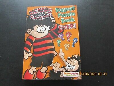 Dennis & Gnasher    Biggest   Puzzle Book  Ever  ????  Very   Good For Age • 2.50£