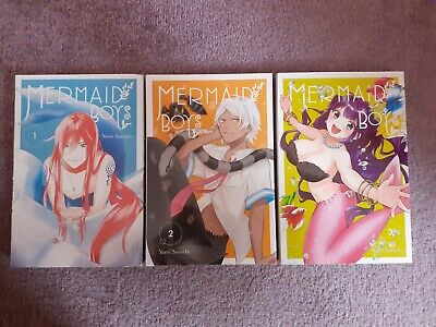 Mermaid Boys Manga Vols 1 - 3 - Yomi Sarachi - Yen Press • 6.20£