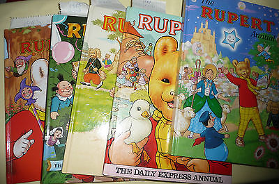 Rupert Bear Annuals - There Are Five - All Signed Copies In Excellent Condition • 66£