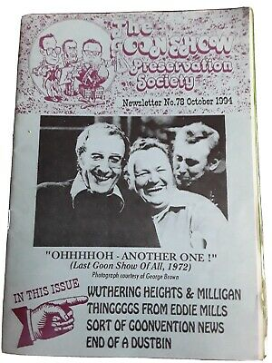 The Goon Show Preservation Society Newsletter No. 78 October 1994 • 0.99£