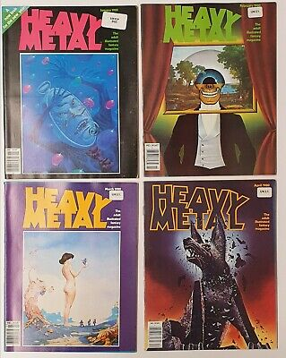 Heavy Metal - Whole Year 1980 - Adult Illustrated Fantasy Magazine - 12 Editions • 90£