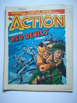 Action Comic UK British 8th January 1977 Rare! Hellman Dredger Spinball Hook Jaw • 15£