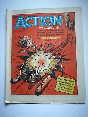 Action Comic UK British 15th January 1977 Rare! Hellman Dredger Spinball HookJaw • 15£
