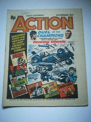 Action Comic UK British 5th February 1977 Rare! Hellman Dredger Spinball HookJaw • 15£