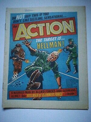 Action Comic UK British 12th February 1977 Rare Hellman Dredger Spinball Hookjaw • 15£