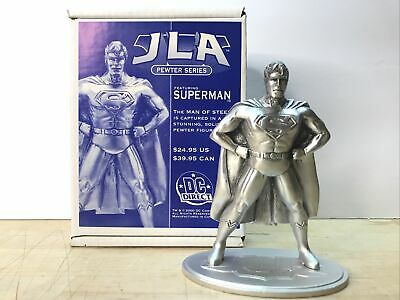 "Superman JLA Pewter Series DC Direct 2000 4"" Figurine • 27.17£"