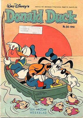 Walt Disney's Donald Duck Comics X 3 No. 34, 35 & 40 1990 Written In Dutch • 5£
