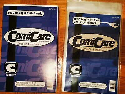 60 X Comicare Current Comic Storage Bags 2mm And Backing Boards  • 8.30£